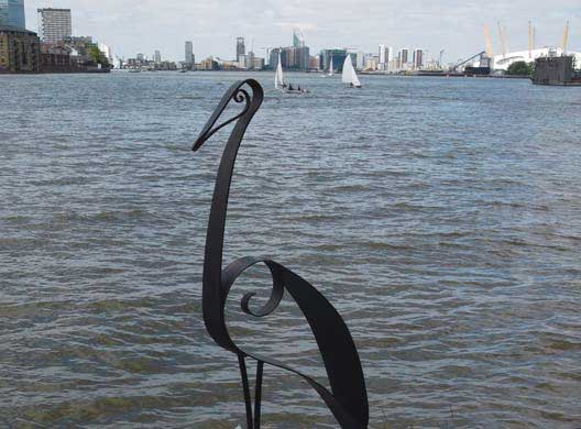 Heron sculpture by Brian Greaves