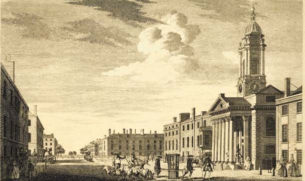 Hanover Square, London, looking north, 1751