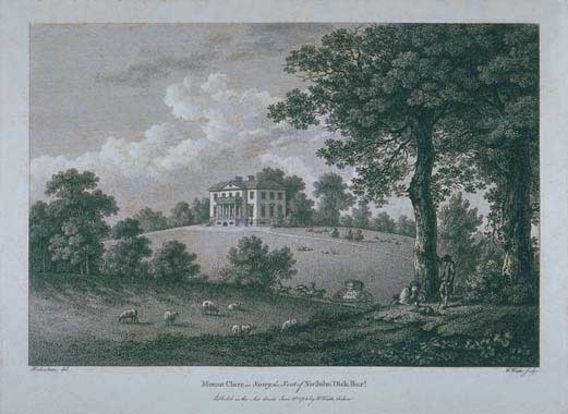 The only known image of Mount Clare as it would