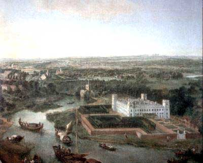 Syon, Jan Griffier c.1710, before transformation by Lancelot 'Capability' Brown