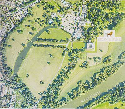 Aerial view of Syon House