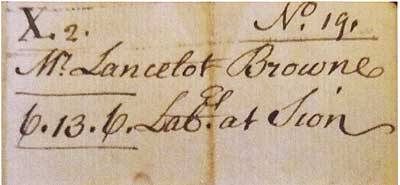 Household voucher of 1756