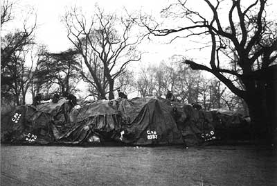 Parcel dump in the open in Regent's Park