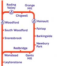 Central Line map