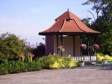 The bandstand in Horniman Park