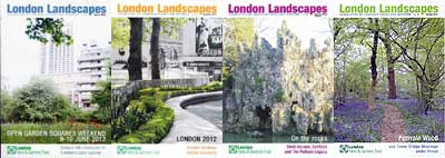 Recent issues of London Landscapes, the Trust's newsletter
