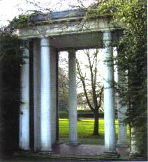 The portico from 170 Denmark Hill still stands in the park