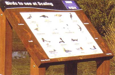 Lectern-style interpretation board from Shelly Signs