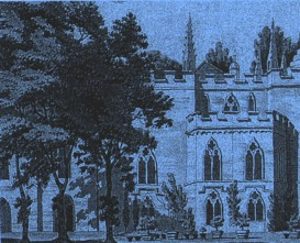 South view of Strawberry Hill (1775, Paul Sandby)
