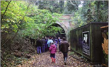 The mouth of the tunnel on the Crystal Palace Branch Railway