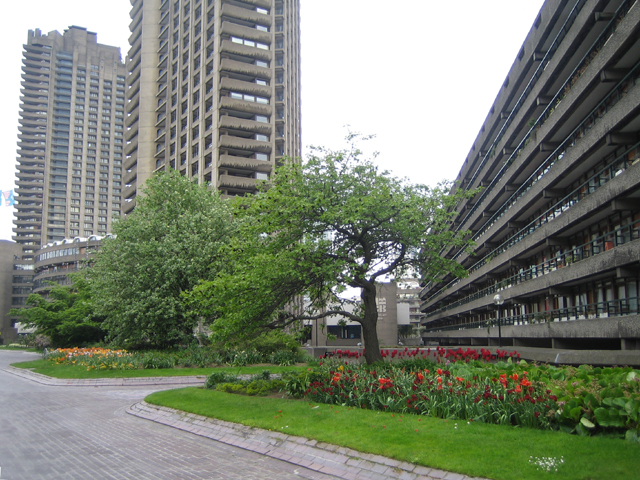 Barbican Estate * (including Beech Gardens, Defoe Gardens, Barbican Wildlife Garden, Lakeside Gardens and Lakeside Terrace)