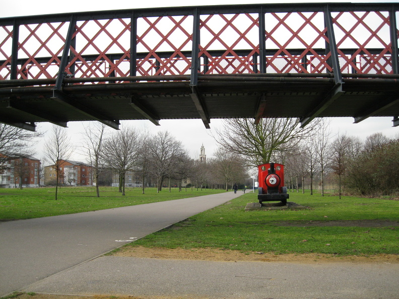 Burgess Park - canal footbridge
