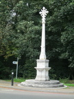 Nonsuch Park - stone cross and drinking fountain at Ewell Road entrance