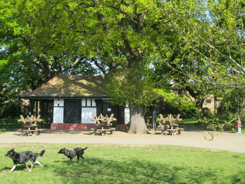 Tooting Common - tea house during lockdown