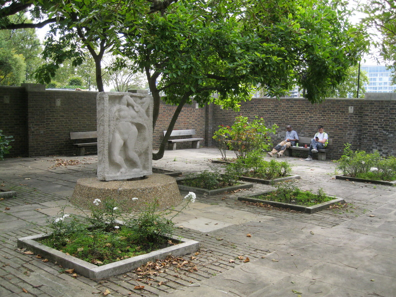 Roper's Gardens - unfinished relief by Jacob Epstein
